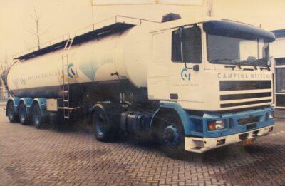 P. Vissers Transport Eerste vrachtwagen