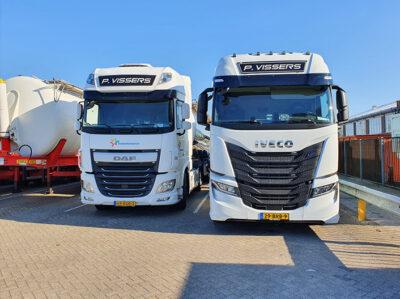 P Vissers Transport Vrachtwagens twee